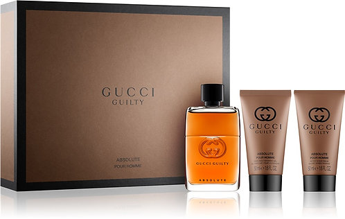 Gucci Guilty Absolute 90ml EDP Spray / 150ml Shower Gel / 50ml Aftershave Balm