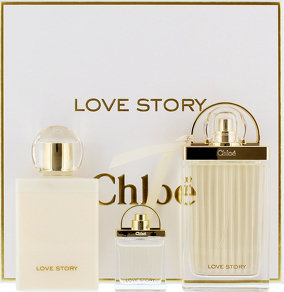 Chloe Love Story 75ml EDP Spray / 100ml Body Lotion / 7.5ml EDP