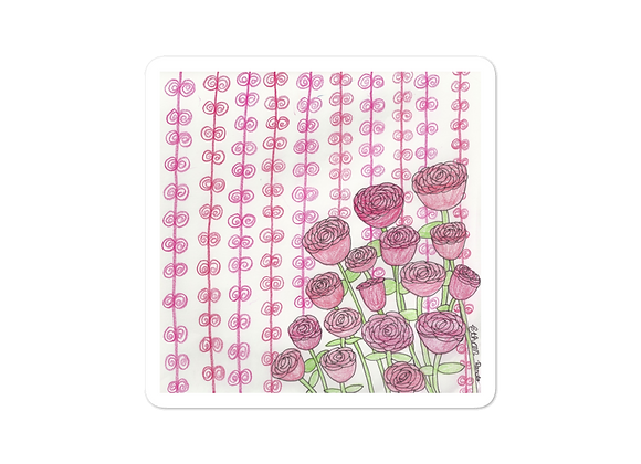 """Roses"" Bubble-free Sticker"
