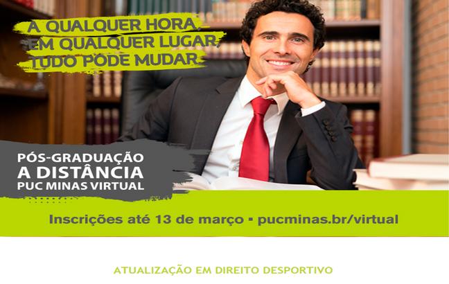 PUCMINAS VIRTUAL lança curso de atualização em Direito Desportivo