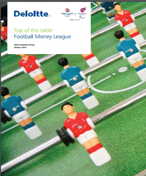 Football Money League 2016 Ranking dos clubes de futebol com as maiores receitas do mundo