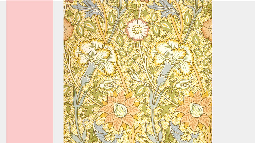 Sample image of William Morris's wallpaper designs