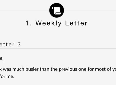 Sending Students a Weekly Letter