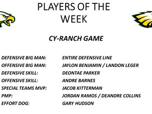 Cypress Ranch Game Players of the Week