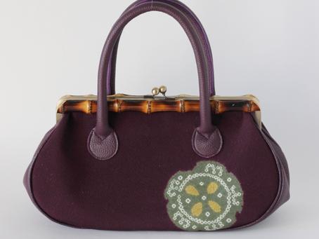 美しい絞りのバッグ