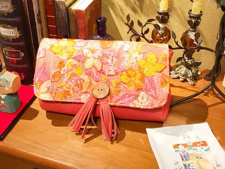 ハリウッドスターのドレス生地で作ったバッグ