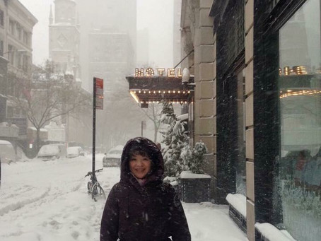 大阪もちょっと雪が降りましたよ。