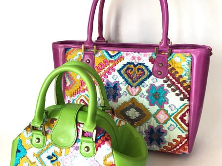 色鮮やかなバッグたち