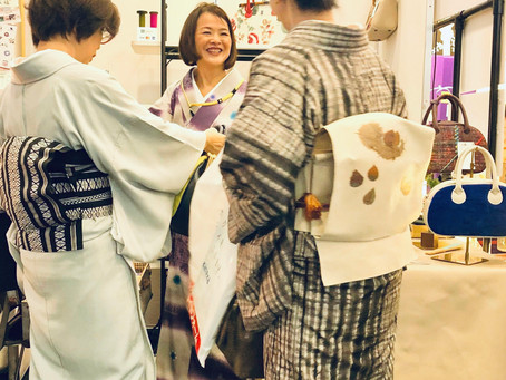 着物ファンが集う【きものサローネ】で頂いたセミオーダーバッグが仕上がってきました。