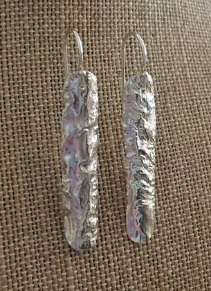 Reticulated Silver Dangles