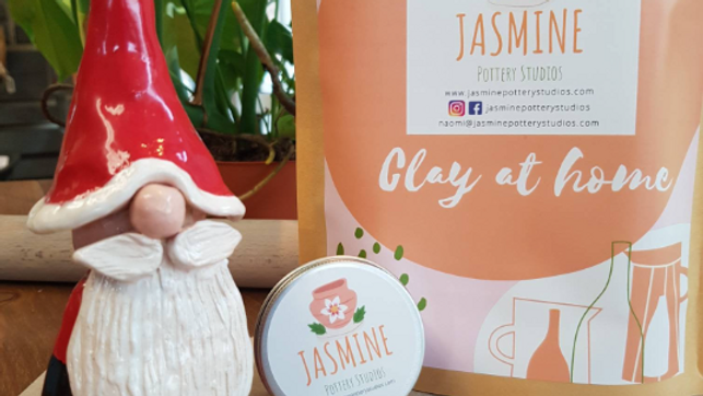 Make a festive gnome clay kit
