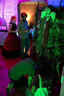 Guests exploring Pirate Ship at New Orleans Immortal Surreal History Party
