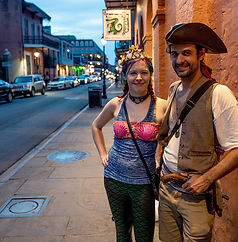 Tour Guides of small group ghost walking tour of Haunted New Orleans French Quarter