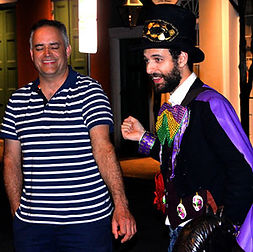 Tour Guide giving small group hauntings and ghost walkintour in New Orleans French Quarter