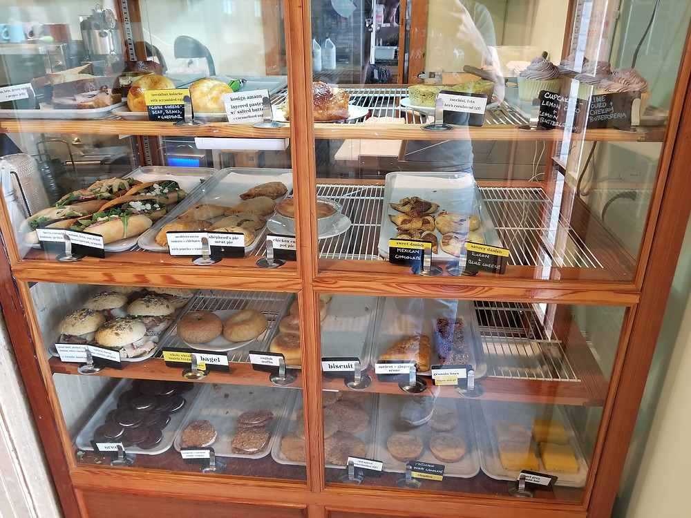 food display at the Station