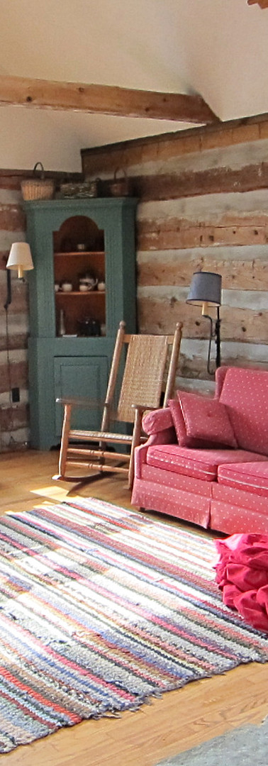Living room and bay window