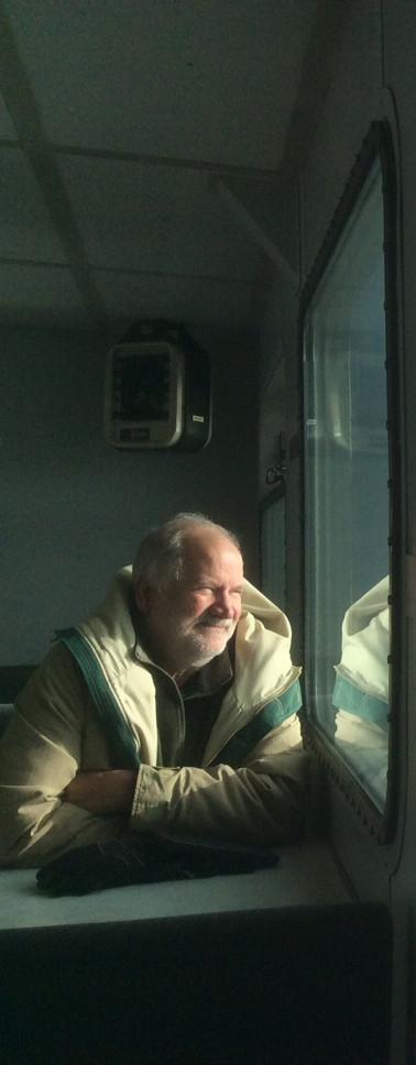 Winter ferry ride