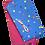 tissu pois multicolores-rose masque non médical enfant