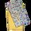 Tissu recyclé fleuri jaune masque non médical