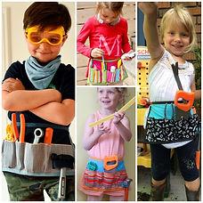 tablier brico pour enfants en tissu recyclé