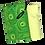 Tissu recyclé tourbillon vert masque profilé