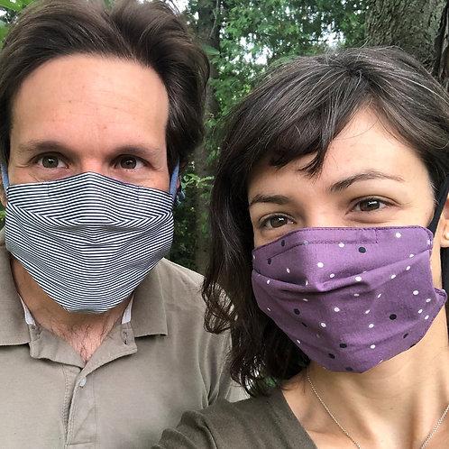 Masques tissu recyclé adultes