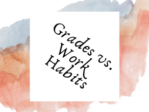 Grades vs. Work Habits: What should be the focus?