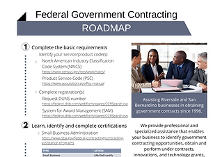 Federal Government Contracting - Roadmap
