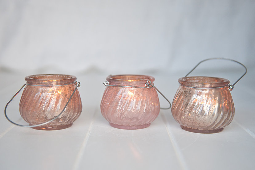 Pastel Mercury Glass Bulb Lantern