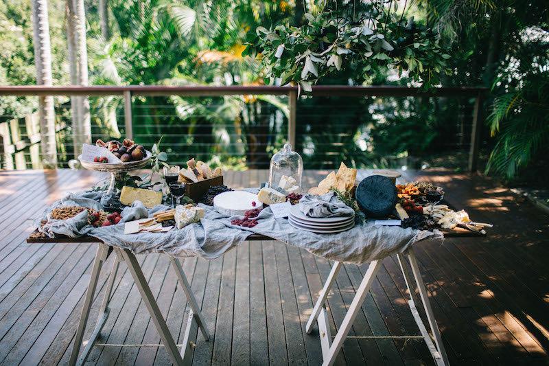 Feature Dark Wood Trestle Table