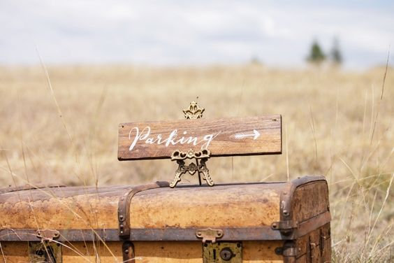 Rustic Wooden Signage - Parking