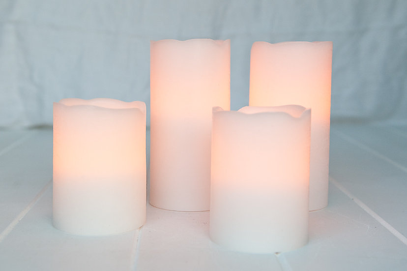 Real Wax LED Candles Large
