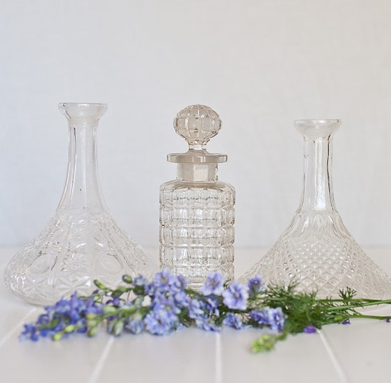 Vintage Style Crystal Decanter