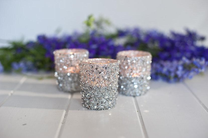 Silver Sparkle Tealight Holder