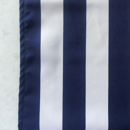 Navy and White Stripe Table Runner