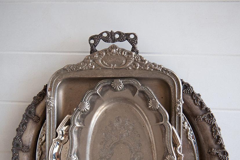 Vintage Silver Serving Platters