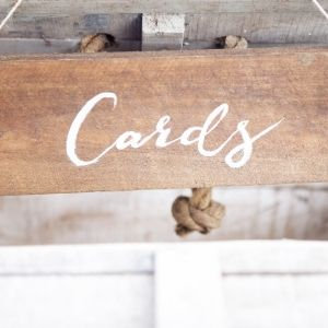 Rustic Wooden Signage - Cards