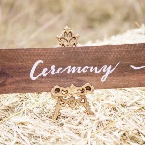 Rustic Wooden Signage - Ceremony