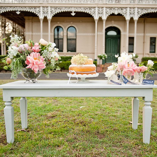 Elegant Grey Coffee Table