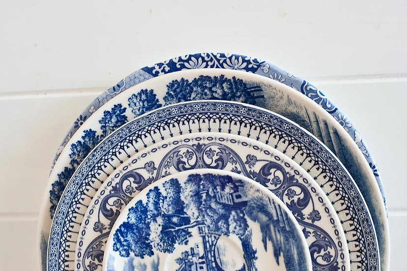 Vintage Blue and White China Side Plate