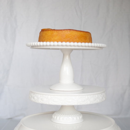 Ceramic White Cake Stand Collection of 5