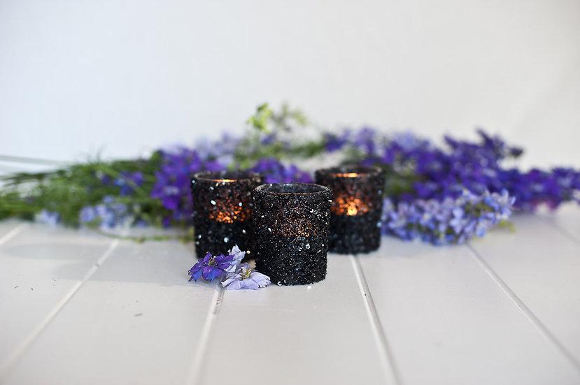 Black Sparkle Tealight Holder