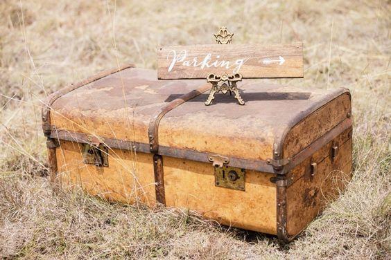 Vintage Wooden Suitcase circa 1910