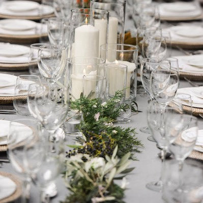 Dove Grey French Linen Table Cloth Small 2.5m Long