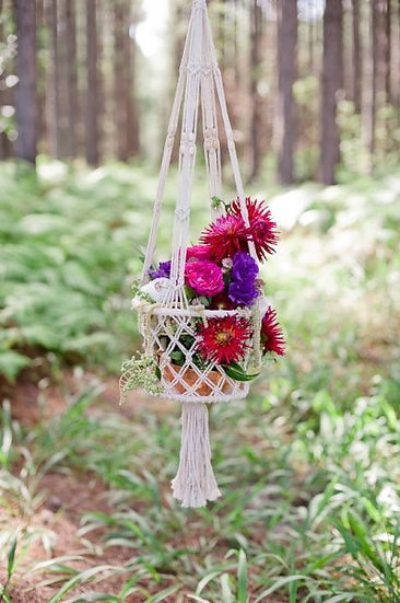 Macrame Hanging Basket Large