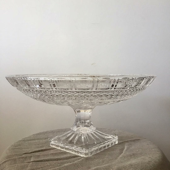 Crystal Flat Bowl Urn