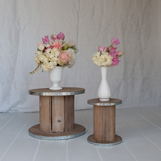 Recycled Wooden Spools Large