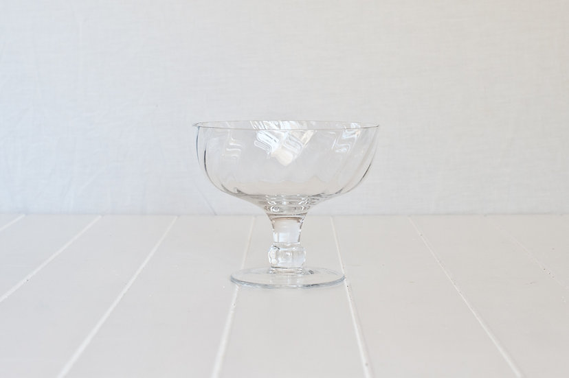 Modern Glass Footed Bowl