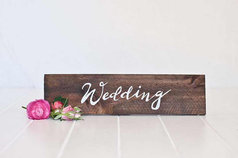 Rustic Wooden Signage - Wedding