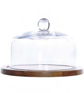 Wooden Base and Glass Cloche